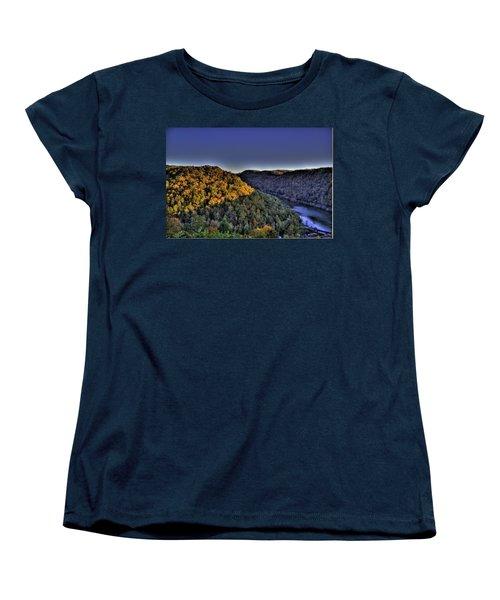 Sun On The Hills Women's T-Shirt (Standard Cut) by Jonny D
