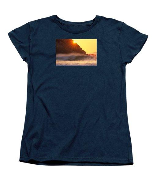 Sun Star Singing Beach Women's T-Shirt (Standard Cut) by Michael Hubley