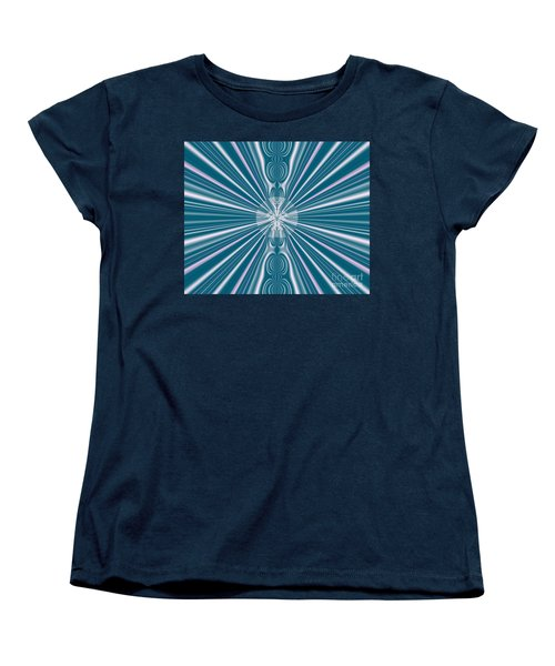 Women's T-Shirt (Standard Cut) featuring the digital art Sunburst In The Rain by Luther Fine Art