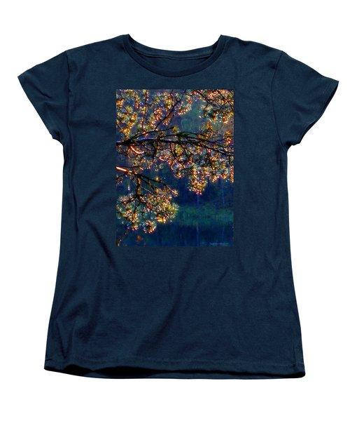 Women's T-Shirt (Standard Cut) featuring the photograph Sundrops by Leena Pekkalainen