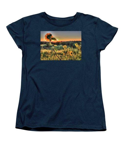 Sunflower Sunrise 1 Women's T-Shirt (Standard Cut) by Diane Alexander