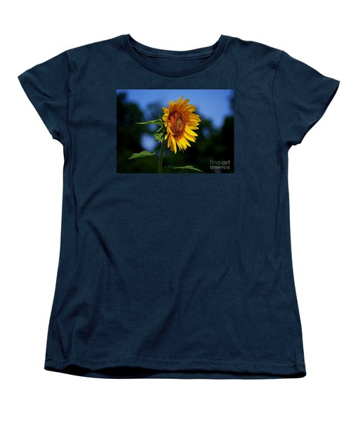 Sunflower With Honeybee Women's T-Shirt (Standard Cut)