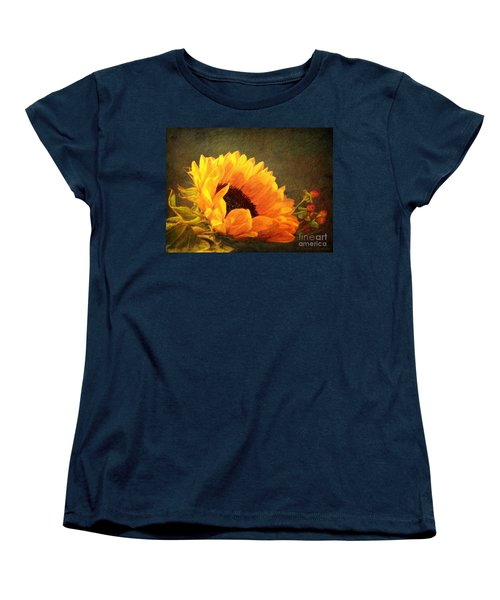 Sunflower - You Are My Sunshine Women's T-Shirt (Standard Cut) by Lianne Schneider