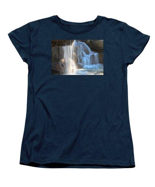 Sunlight On The Falls Women's T-Shirt (Standard Cut) by Deb Halloran