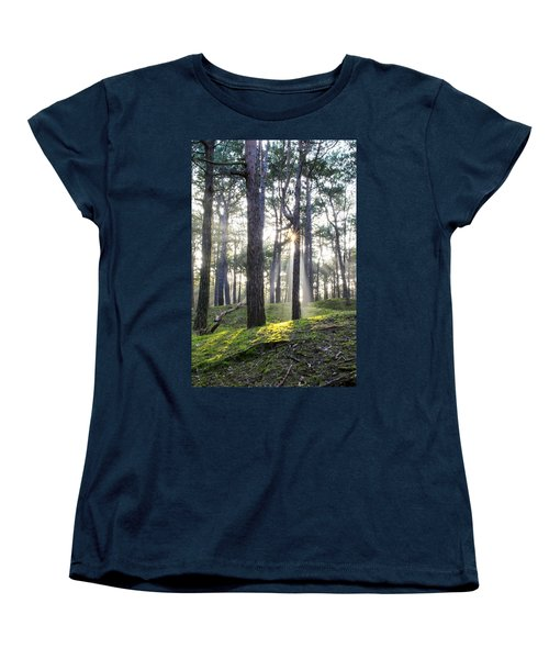 Sunlit Trees Women's T-Shirt (Standard Cut) by Spikey Mouse Photography