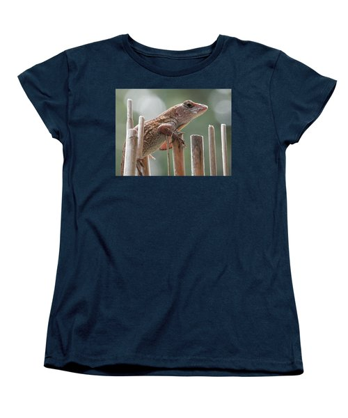 Sunning Lizard Women's T-Shirt (Standard Cut) by Belinda Lee