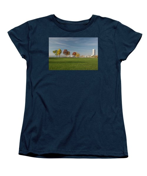Sunny Autumn Day Women's T-Shirt (Standard Cut) by Jonah  Anderson