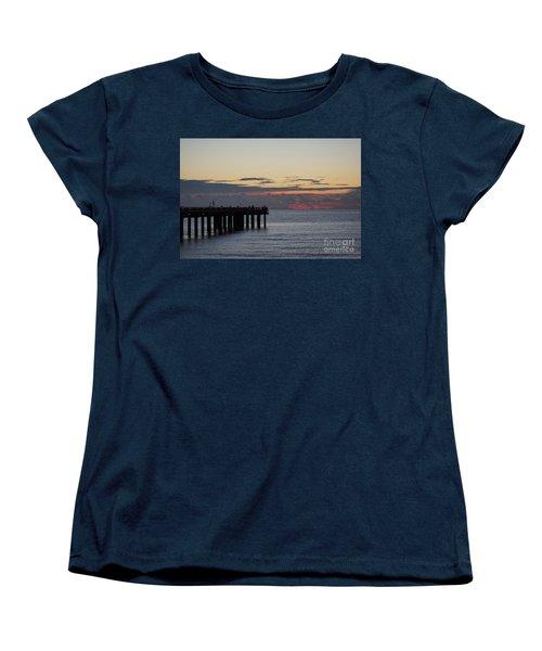 Women's T-Shirt (Standard Cut) featuring the photograph Sunny Isles Fishing Pier Sunrise by Rafael Salazar