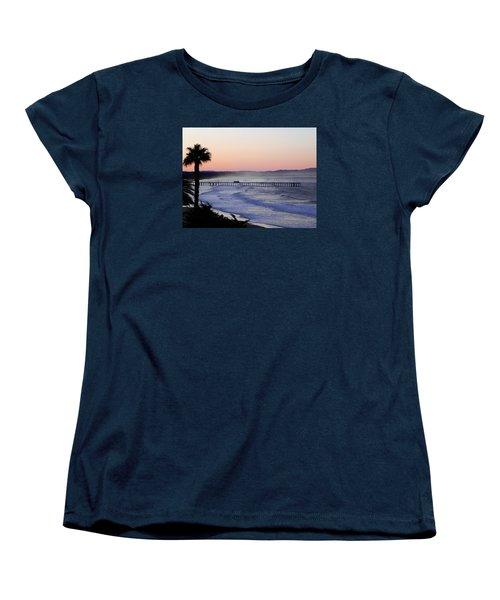 Women's T-Shirt (Standard Cut) featuring the photograph Sunrise At Pismo Beach by Kathy Churchman