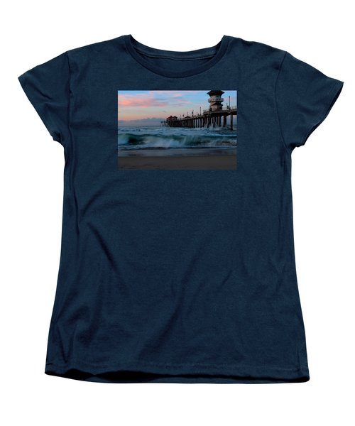 Sunrise At The Pier Women's T-Shirt (Standard Cut) by Duncan Selby
