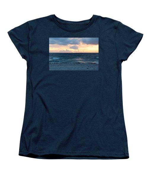Women's T-Shirt (Standard Cut) featuring the photograph Sunrise In Deerfield Beach by Rafael Salazar