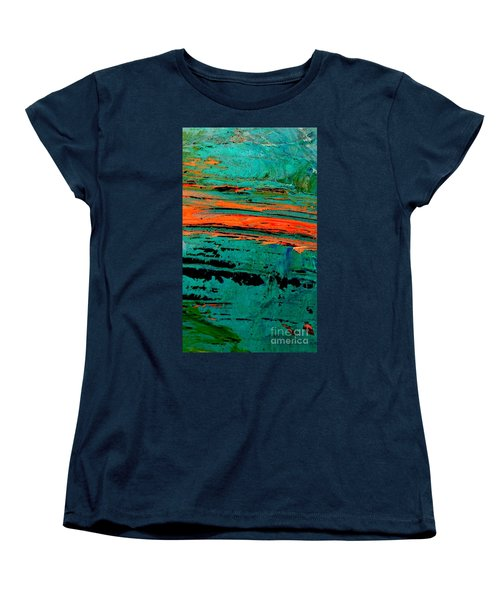 Women's T-Shirt (Standard Cut) featuring the painting Sunrise On The Water by Jacqueline McReynolds