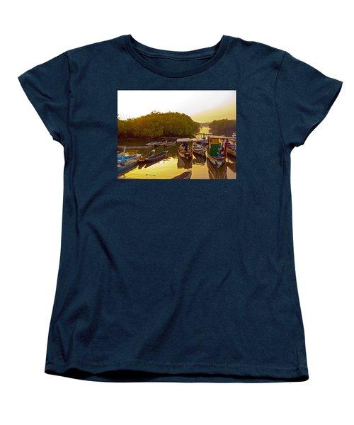 Sunrise Over Gambian Creek Women's T-Shirt (Standard Cut) by Tony Murtagh