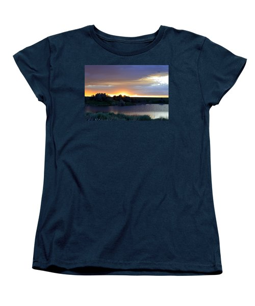Sunrise Over Kinney Lake Women's T-Shirt (Standard Cut) by Clarice  Lakota
