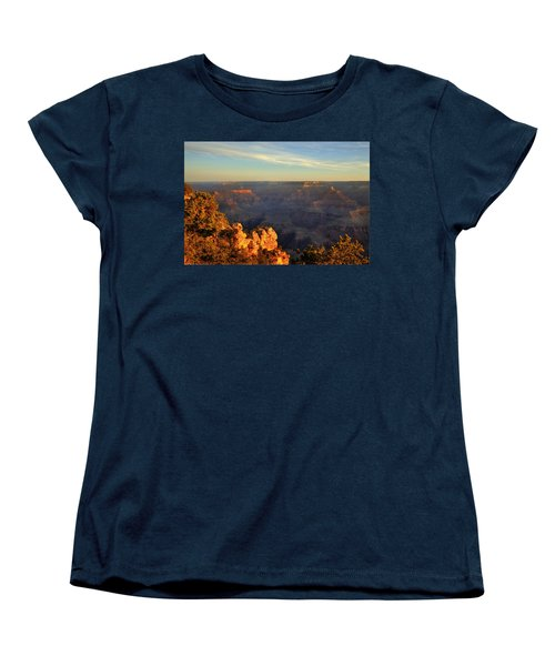 Sunrise Over Yaki Point At The Grand Canyon Women's T-Shirt (Standard Cut) by Alan Vance Ley