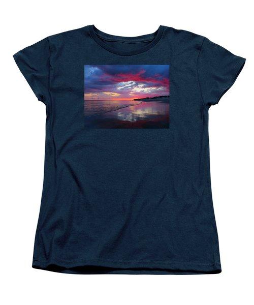 Women's T-Shirt (Standard Cut) featuring the photograph Sunrise Sizzle by Dianne Cowen