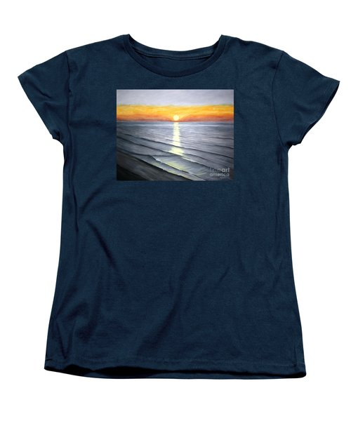 Women's T-Shirt (Standard Cut) featuring the painting Sunrise by Stacy C Bottoms