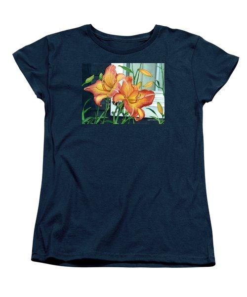 Sunrise-sunset Women's T-Shirt (Standard Cut) by Barbara Jewell