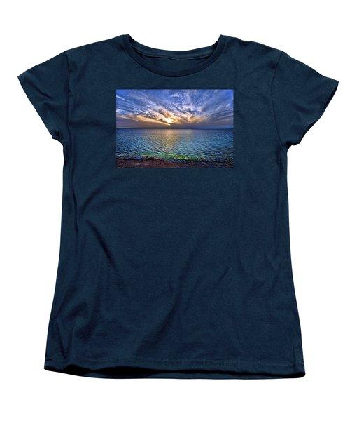 Sunset At The Cliff Beach Women's T-Shirt (Standard Cut)
