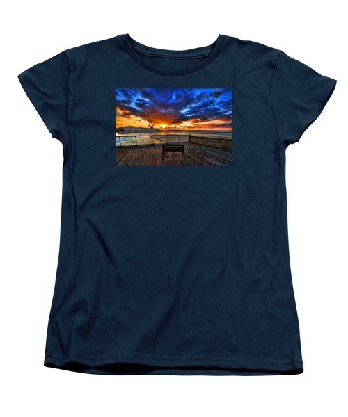 sunset at the port of Tel Aviv Women's T-Shirt (Standard Cut) by Ron Shoshani