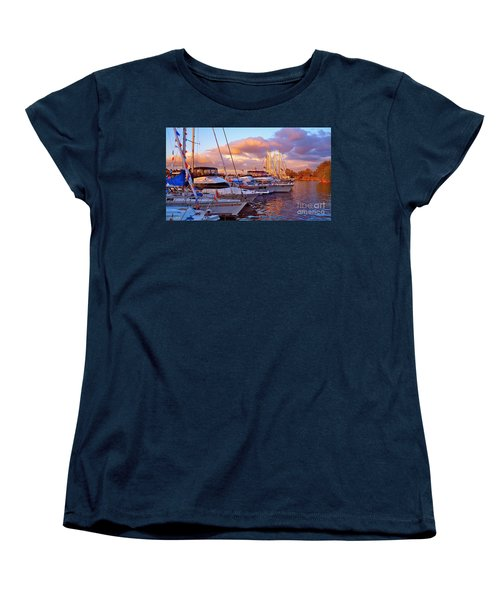 Sunset Before The Show Women's T-Shirt (Standard Cut) by Gem S Visionary