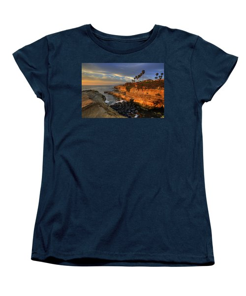Sunset Cliffs Women's T-Shirt (Standard Cut) by Peter Tellone