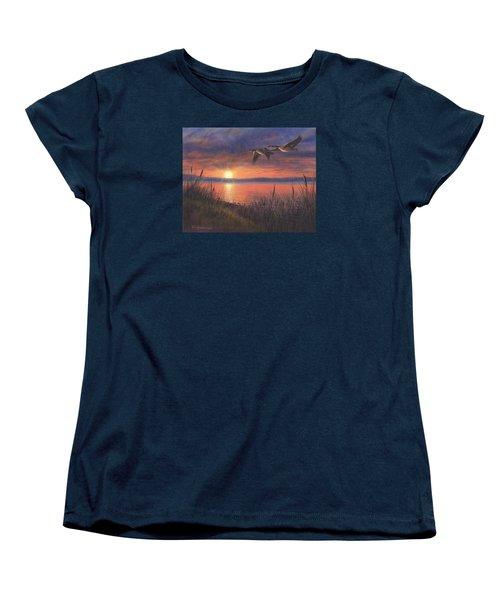 Sunset Flight Women's T-Shirt (Standard Cut) by Kim Lockman