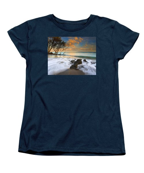Sunset In Paradise Women's T-Shirt (Standard Cut) by Mike  Dawson