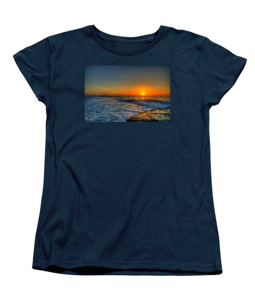 Sunset In The Cove Women's T-Shirt (Standard Cut) by Dave Files