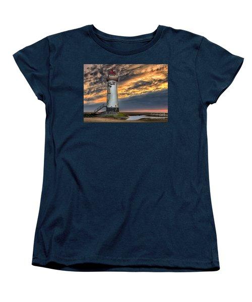 Sunset Lighthouse Women's T-Shirt (Standard Cut) by Adrian Evans