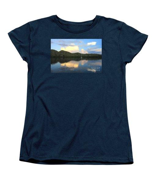 Sunset On Komodo Women's T-Shirt (Standard Cut) by Sergey Lukashin