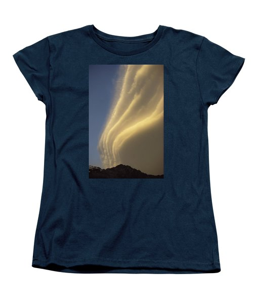Sunset On Storm Clouds Near Mt Cook Women's T-Shirt (Standard Cut) by Ian Whitehouse