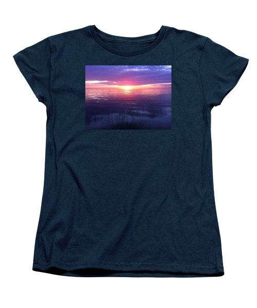 Women's T-Shirt (Standard Cut) featuring the photograph Sunset On The Bay by Tiffany Erdman
