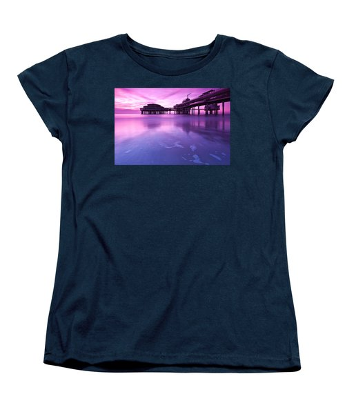 Women's T-Shirt (Standard Cut) featuring the photograph Sunset Over The Pier by Mihai Andritoiu