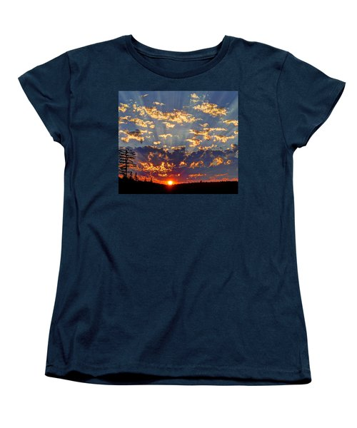 Women's T-Shirt (Standard Cut) featuring the photograph Sunset Spectacle by Peter Mooyman