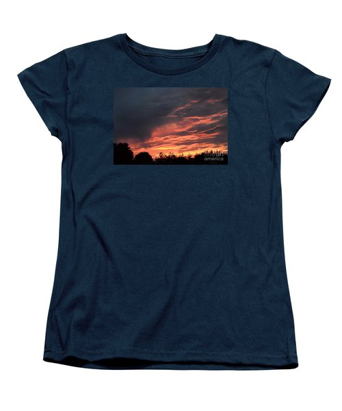 Women's T-Shirt (Standard Cut) featuring the photograph Sunset Streaks by Luther Fine Art