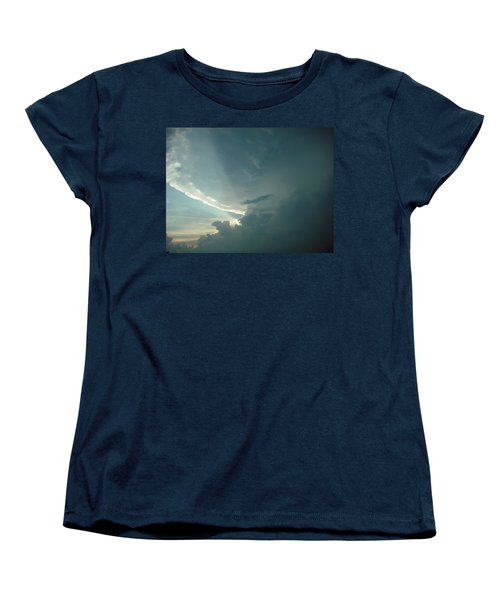 Women's T-Shirt (Standard Cut) featuring the photograph Sunset Supercell by Ed Sweeney