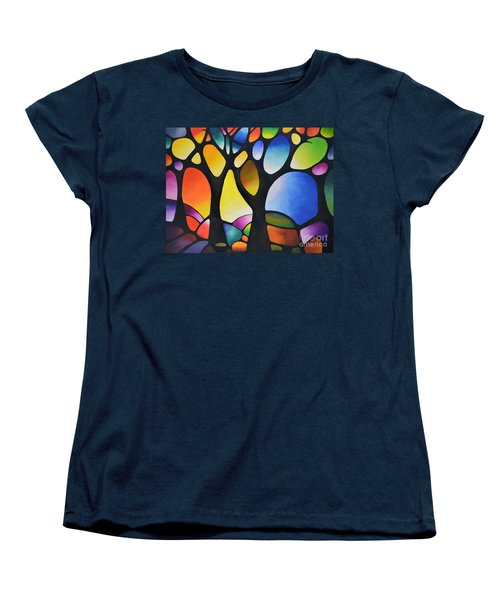 Sunset Trees Women's T-Shirt (Standard Cut) by Sally Trace