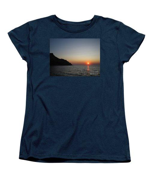 Women's T-Shirt (Standard Cut) featuring the photograph Sunset by Vicki Spindler