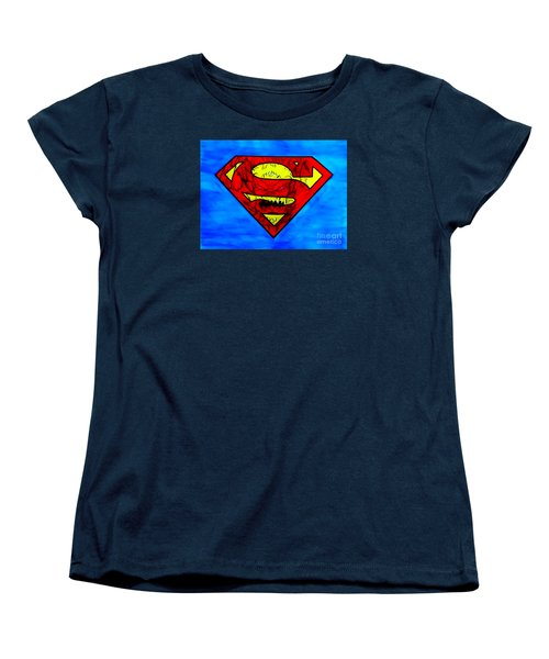 Superman And Doomsday R Y D Women's T-Shirt (Standard Cut) by Justin Moore