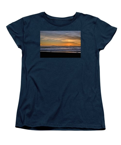 Women's T-Shirt (Standard Cut) featuring the photograph Surf Fishing by Michael Gordon