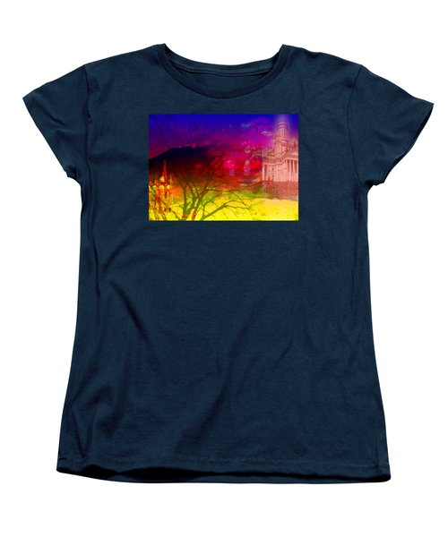 Women's T-Shirt (Standard Cut) featuring the digital art Surreal Buildings  by Cathy Anderson