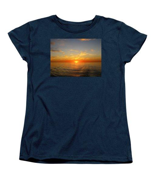 Surreal Sunrise At Sea Women's T-Shirt (Standard Cut) by Anne Mott
