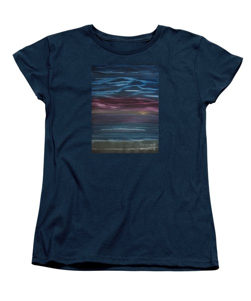 Women's T-Shirt (Standard Cut) featuring the painting Surreal Sunset by Ian Donley