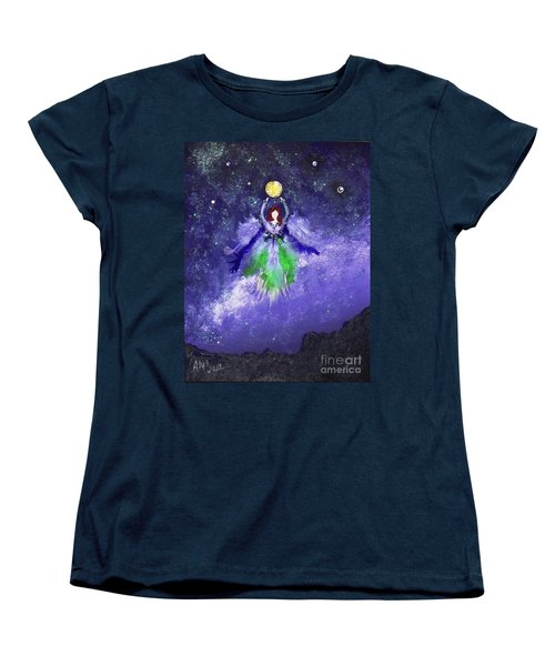 Women's T-Shirt (Standard Cut) featuring the painting Survivor by Alys Caviness-Gober