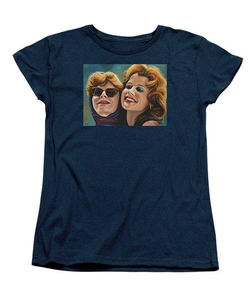 Susan Sarandon And Geena Davies Alias Thelma And Louise Women's T-Shirt (Standard Cut) by Paul Meijering