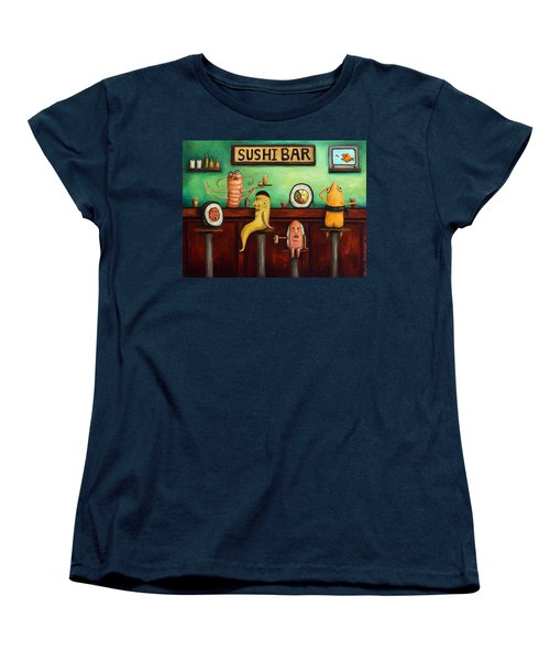 Sushi Bar Improved Image Women's T-Shirt (Standard Cut) by Leah Saulnier The Painting Maniac