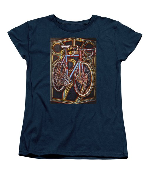 Women's T-Shirt (Standard Cut) featuring the painting Swallow Bespoke Bicycle by Mark Howard Jones