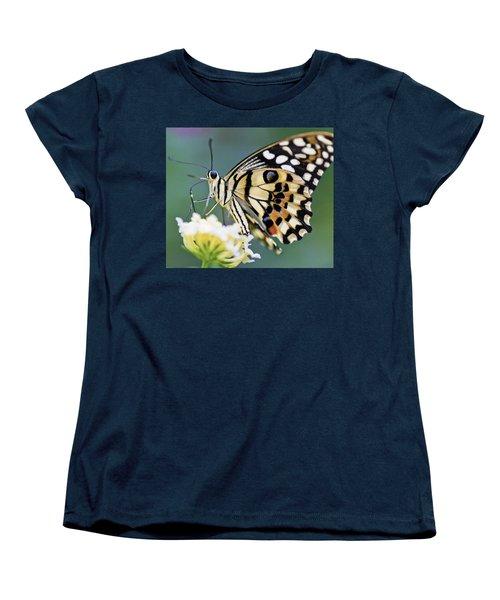 Swallowtail Butterfly Women's T-Shirt (Standard Cut) by Maj Seda