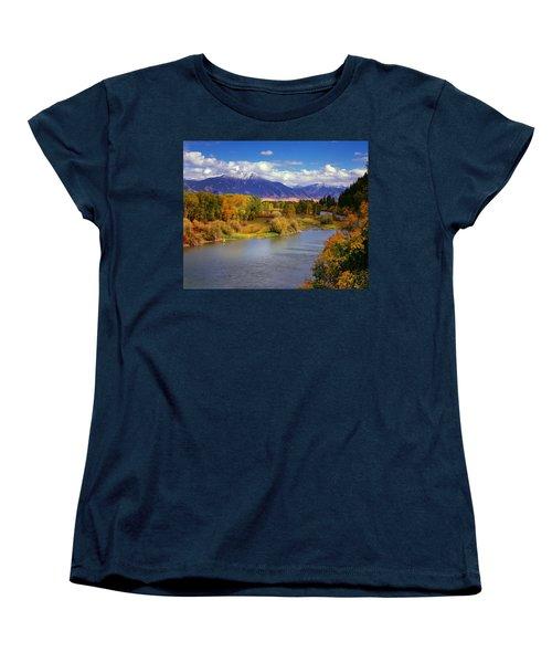 Swan Valley Autumn Women's T-Shirt (Standard Cut) by Leland D Howard